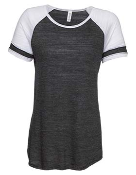 Enza 076 - Ladies Vintage Triblend Colorblock Tee