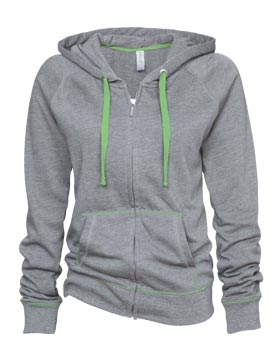 Enza 09079 - Ladies Campus Fleece Contrast Stitch Full ...