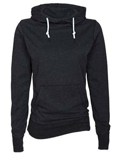 Enza 09179 - Ladies Long Sleeve Funnel Neck Hooded Tee
