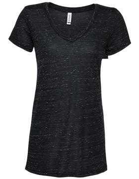 Enza 182 - Ladies Space Dye Flowy V Neck Tee
