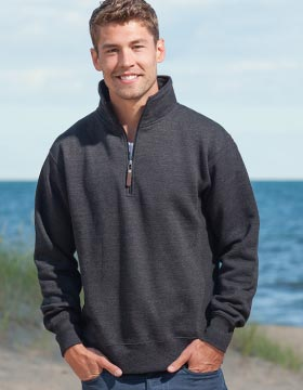Enza 35479 - Unisex Quarter Zip Fleece Pullover