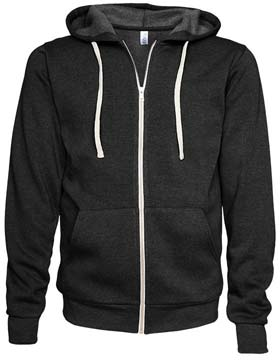 Enza 36479 - Unisex Triblend Full Zip Fleece Hoodie