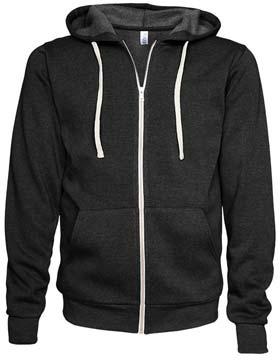 Enza 36479 - Unisex Triblend Full Zip Fleece Hoodie