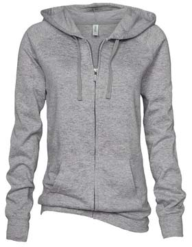 Enza 36879 - Ladies Burnout Fleece Full Zip Hoodie