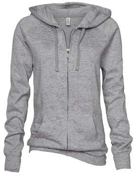 Enza 36879 - Ladies Burnout Fleece Full Zip Hoodie