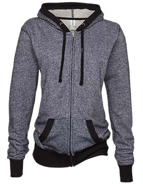 Enza 384 - Ladies Mock Twist Full Zip Hoodie