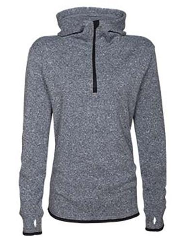 Enza 43079 - Ladies Mocktwist Fleece Quarter Zip Hooded Jacket