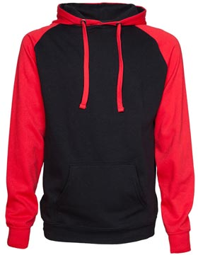 Enza EZ328 - Colorblock Fleece Pullover Hood