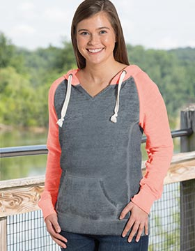 Enza 38179 - Ladies Garment Washed Colorblock Chalk ...