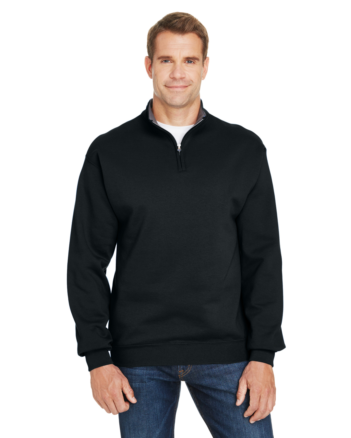 Fruit of the Loom SF95R - Adult Sofspun Quarter-Zip ...