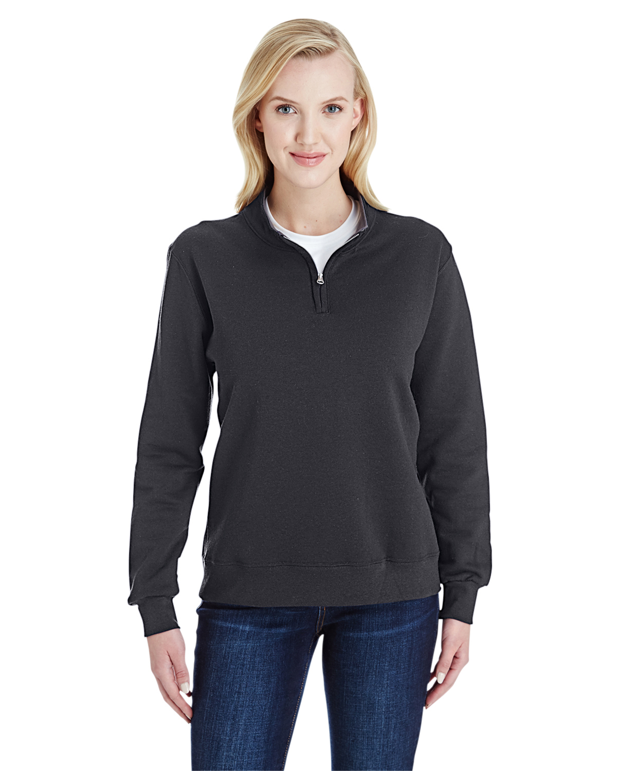 Fruit of the Loom LSF95R - Ladies Sofspun Quarter-Zip ...