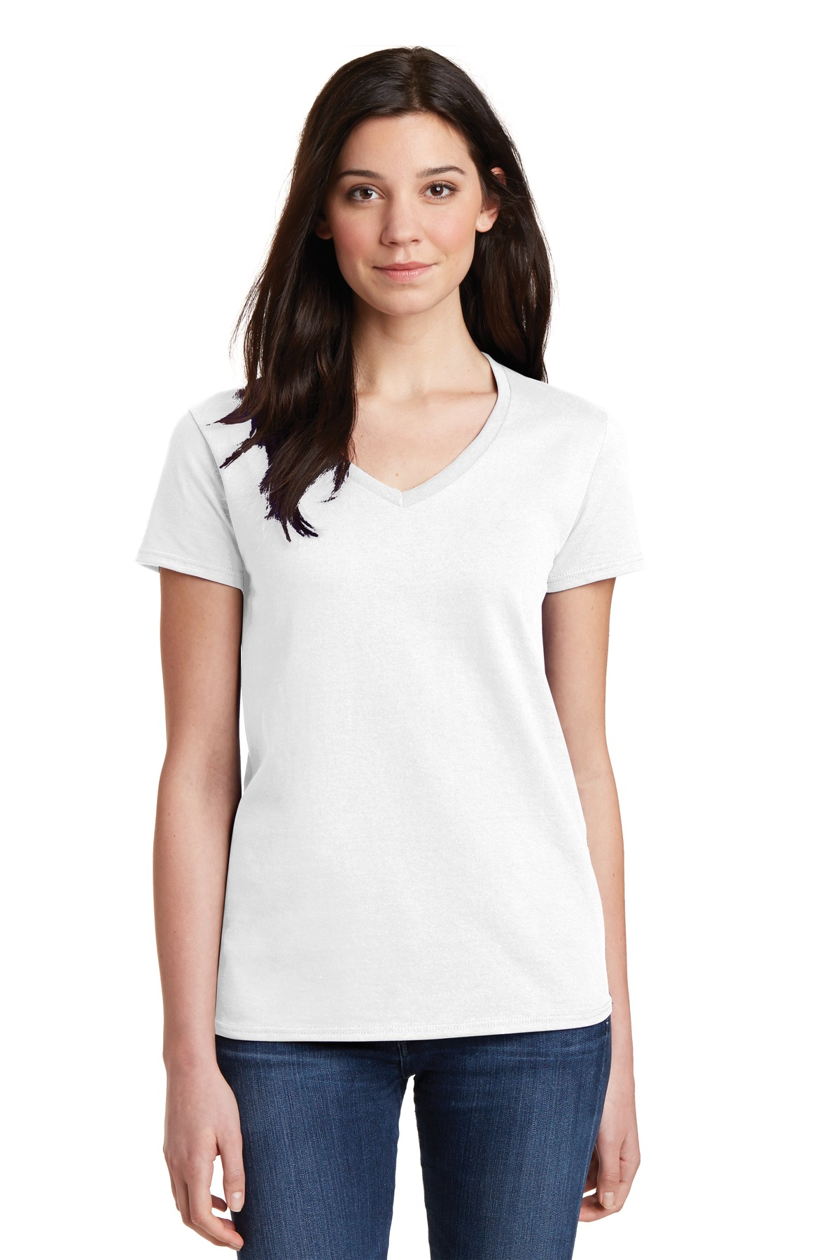 Gildan  5V00L - Ladies Heavy Cotton 100% Cotton V-Neck ...