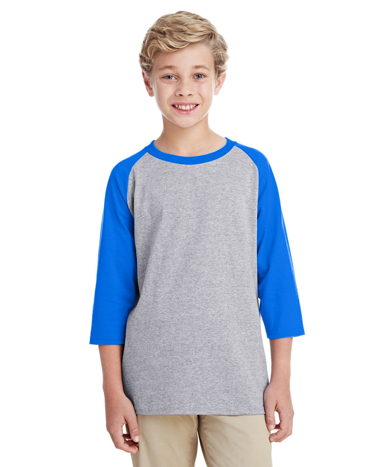 Gildan G570B - Youth 5.3 oz. 3/4-Raglan Sleeve T-Shirt