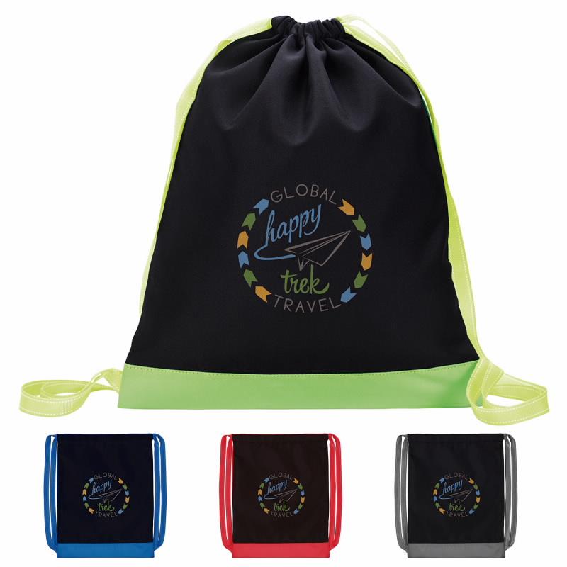 Good Value® 15882 Color Flip Drawstring Backpack