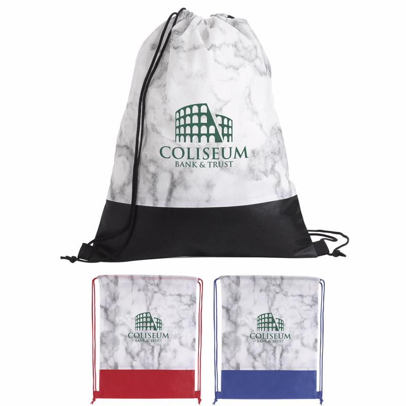 Good Value® 15959 Marble Drawstring Backpack
