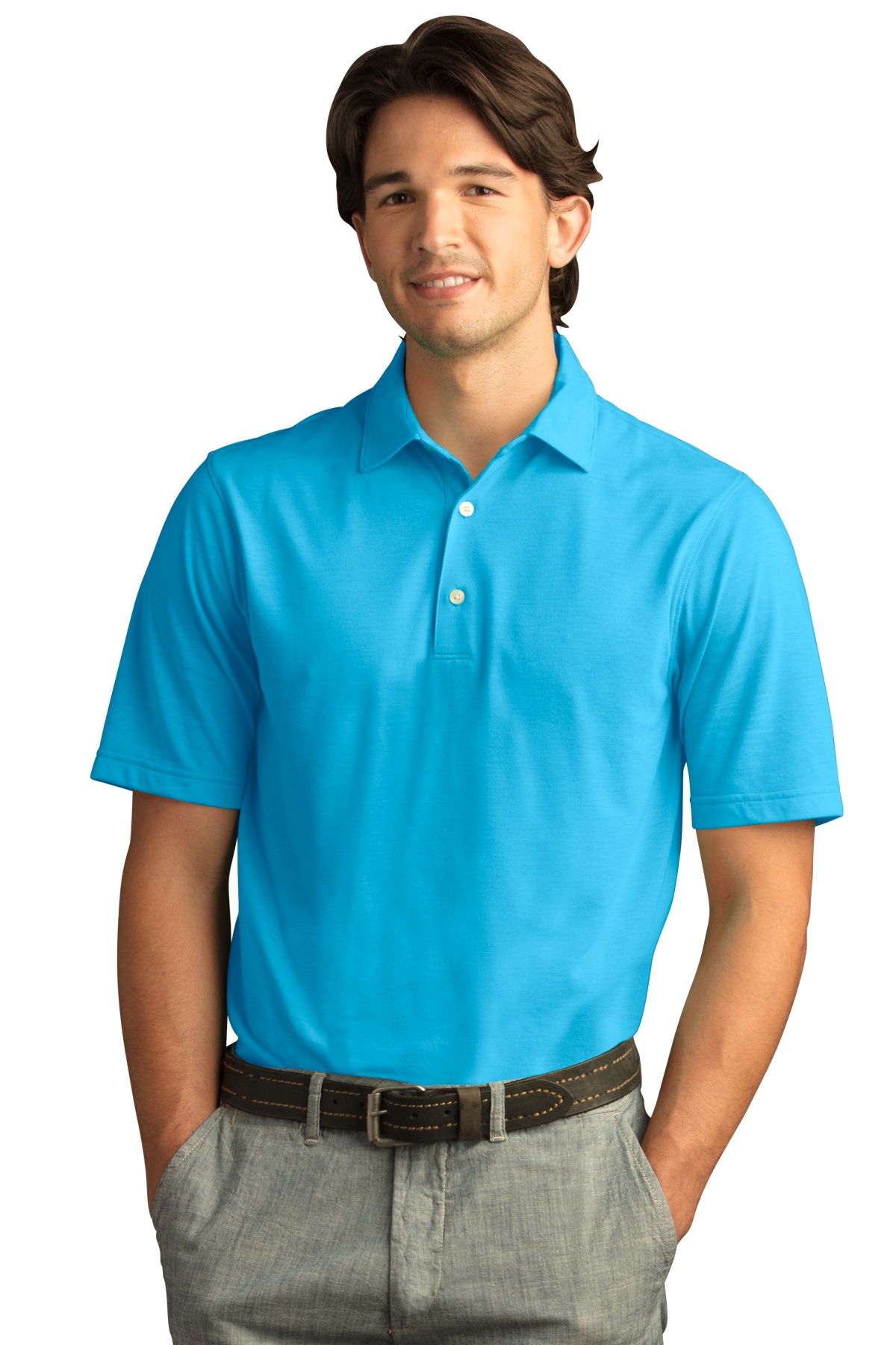 Greg Norman GNS8K463 - Men's Play Dry Foreward Series Polo