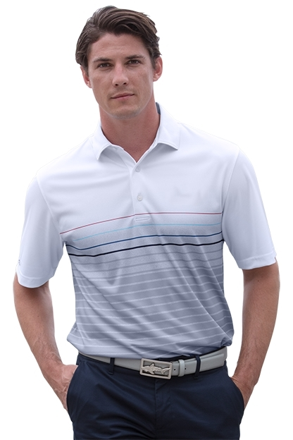 Greg Norman GNS8K461 - Men's Play Dry ML75 Stripe Print ...