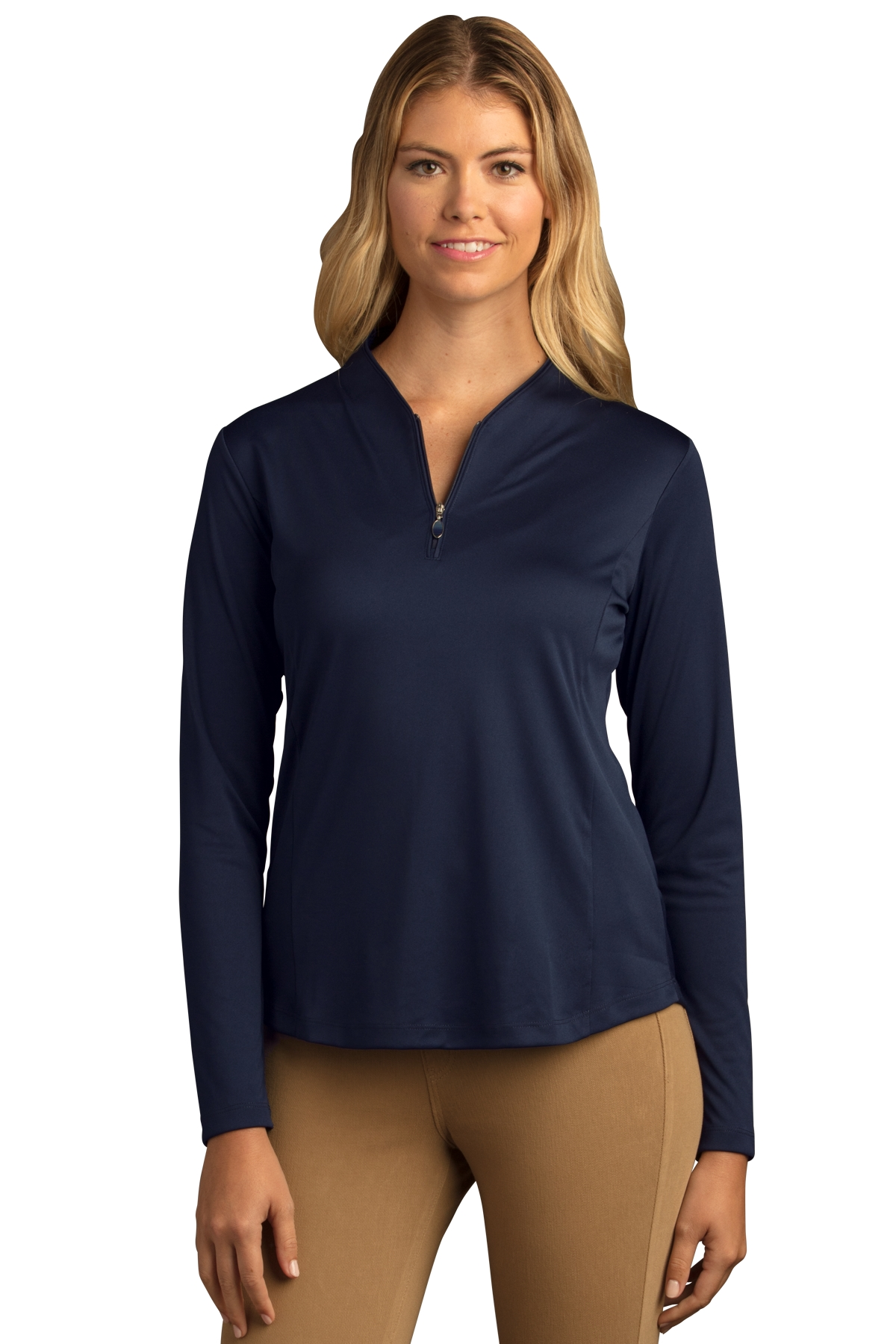 Greg Norman WNS8K464 - Women's Play Dry Tulip Neck 1/...
