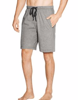 Hanes 010052  - Men's Jersey Lounge Drawstring Shorts with Logo Waistband 2-Pack