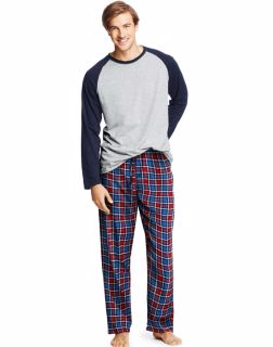 Hanes 03003 - Men's Jersey Flannel Sleep Set