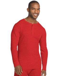 Hanes 14510 - X-Temp; Men's Organic Cotton Thermal Henley