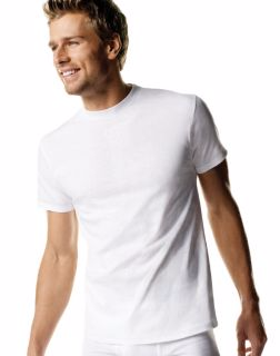 Hanes 2135P5B - Men's White TAGLESS® Crewneck Undershirt ...