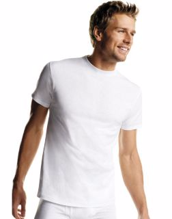 Hanes 2135P6 - Men's White TAGLESS® Crewneck Undershirt ...