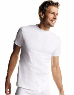 Hanes 2135P6 - Men's White TAGLESS® Crewneck Undershirt 6-Pack