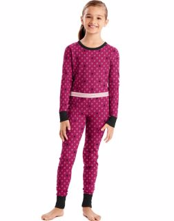 Hanes 25453 - Girls'X-Temp™ Printed Thermal Set