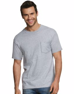 Hanes 2576H3 - ComfortBlend® Men's Perfect T Dyed Pocket Crewneck Undershirt 3-Pack