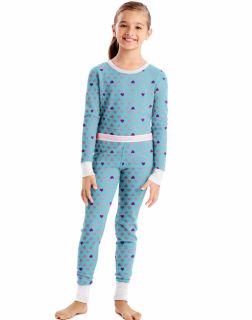Hanes 34600P - X-Temp™ Girls'Organic Cotton Printed Thermal Set