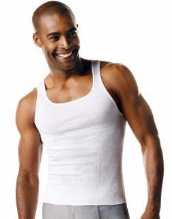 Hanes 372AG7 - Men's TAGLESS® ComfortSoft® A-Shirt 7-Pack (Includes 1 Free Bonus A-Shirt)