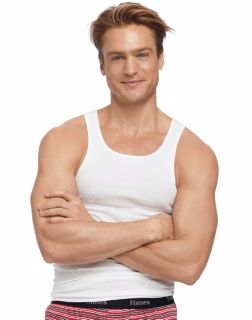 Hanes 372P5B - Men's TAGLESS® ComfortSoft® White A-Shirt 5-Pack