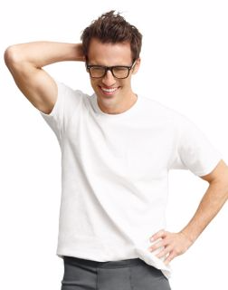 Hanes 7870W3B - Classics Men's Traditional Fit ComfortSoft® TAGLESS® Crewneck Undershirt 2X-4X 3-Pack
