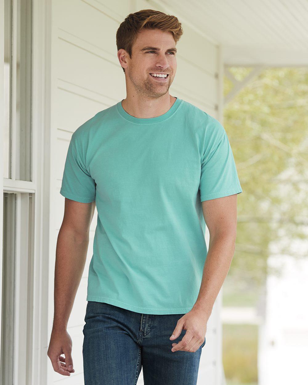 Hanes ComfortWash GDH100 - Garment Dyed Short Sleeve ...
