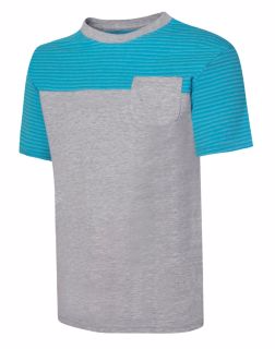 Hanes D185 - Boy's X-Temp Colorblocked SS Pocket Tee
