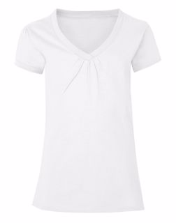 Hanes K046 - Girls'Shirred V-Neck Tee