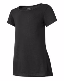 Hanes K294 - Girls'Peplum Short Sleeve T-Shirt