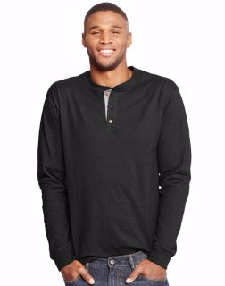 Hanes O5719 - Men's Beefy-T Long-Sleeve Henley