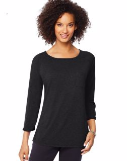 Hanes O9298 - Women's Fashion Essentials Raglan Pocket Tee