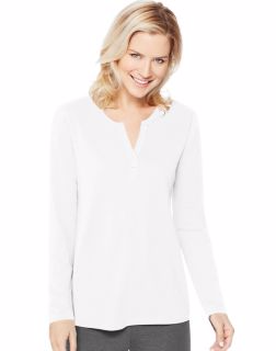 Hanes O9304 - Women's Lightweight Split Neck Tunic
