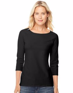 Hanes O9343 - Stretch Cotton Women's Raglan Sleeve Tee