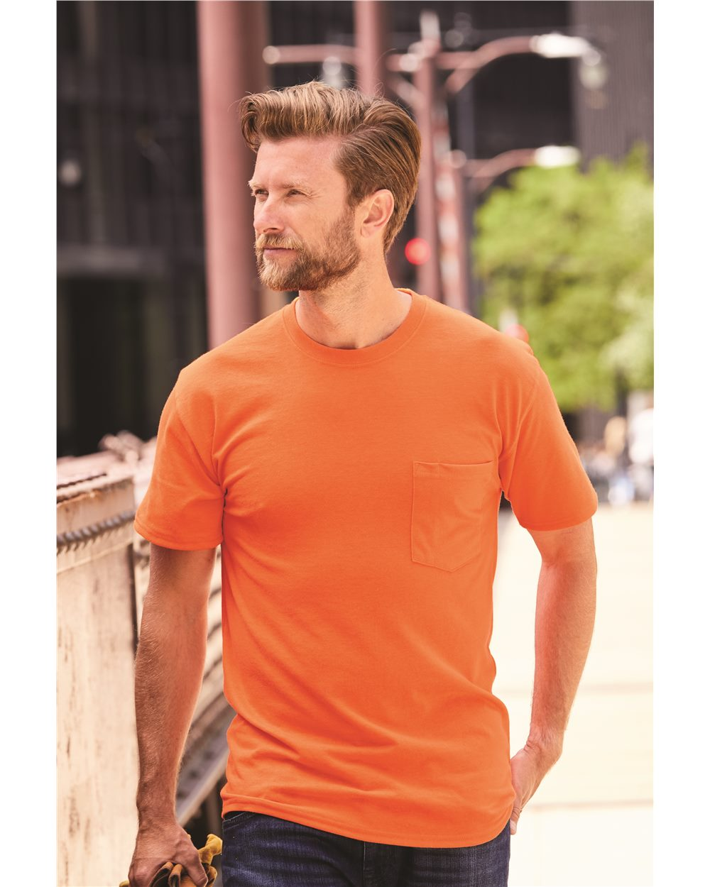 Hanes W110 - Men's Workwear Short Sleeve Pocket T-Shirt