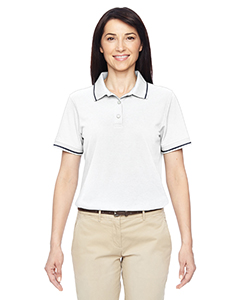 Harriton M270W - Ladies' 5.6 oz. Tipped Easy Blend Polo