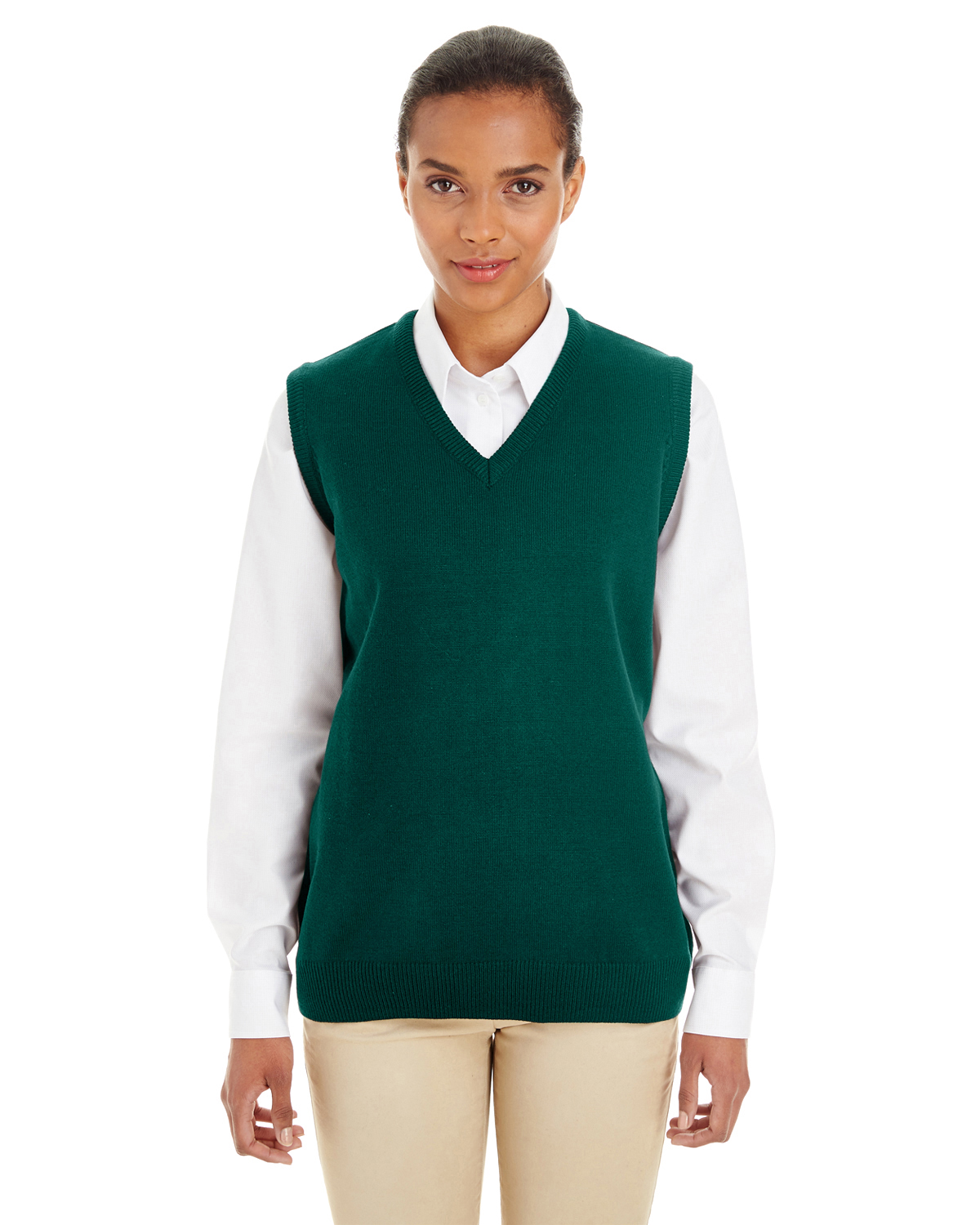 Harriton M415W - Ladies' Pilbloc™ V-Neck Sweater ...