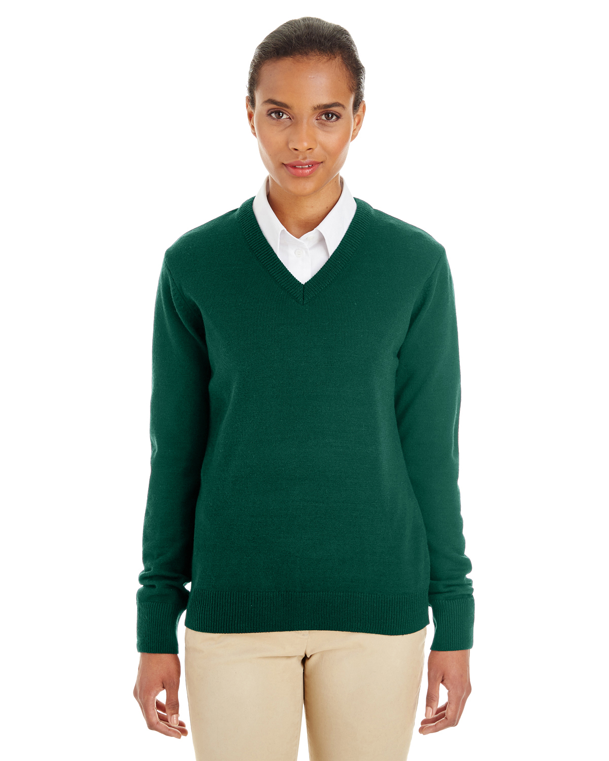 Harriton M420W - Ladies' Pilbloc™ V-Neck Sweater