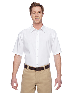 Harriton M545 - Men's Advantage Snap Closure Short-Sleeve ...