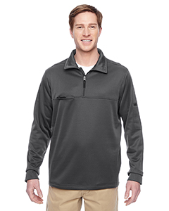 Harriton M730 - Adult Task Performance Fleece Half-Zip ...