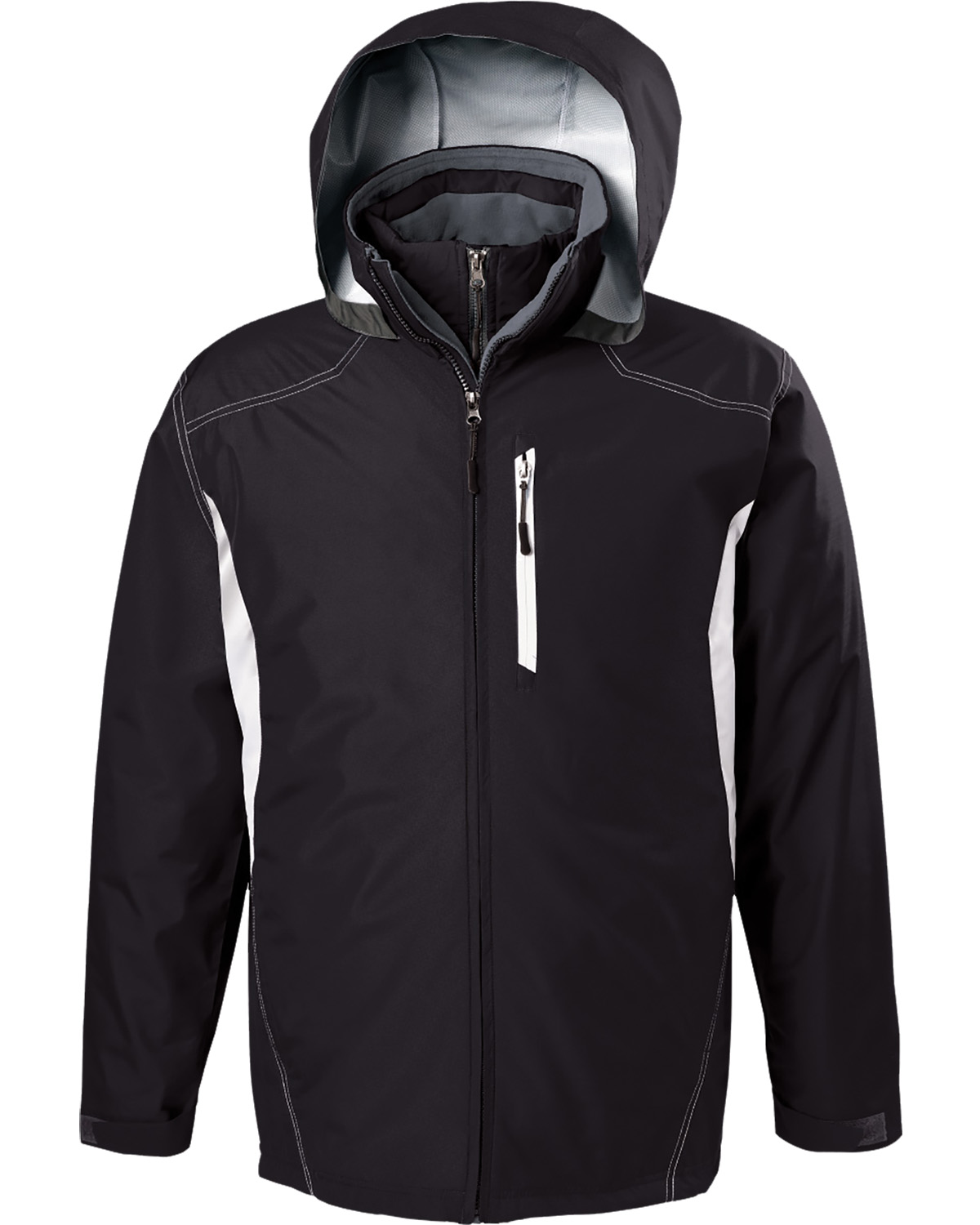 Holloway 229137 - Adult Polyester Full Zip Hooded Interval Jacket