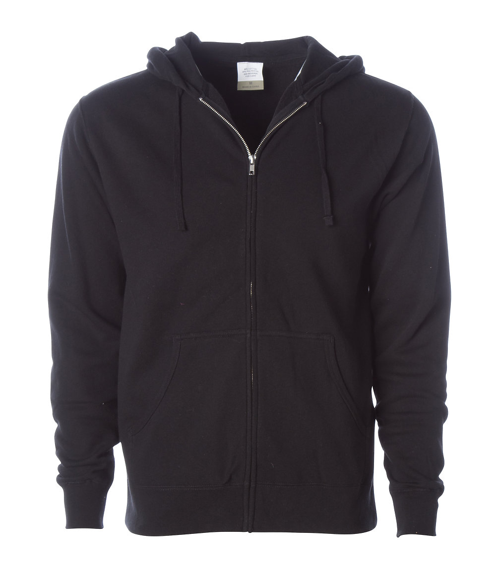 Independent Trading Co. AFX4000Z - Lightweight Zip Hooded ...